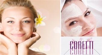 Staro pavasarī:  Sejas ādu atjaunojošā pretgrumbu procedūra + kolagēna maska sejai skaistuma salonā CORETTI ar 57 % atlaidi
