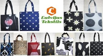 www.tekstilfabrika.lv piedāvā: Izvēlies jebkuru no vairāk kā 30 dažāda dizaina iepirkumu maisiņiem ar 56% atlaidi
