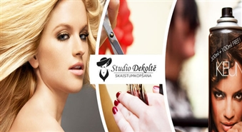 Tavi mati ir apburoši! Stilīga frizūra: Matu griešana + atjaunojoša maska + 10 minūšu ilga galvas masāža + ieveidošana! -61%