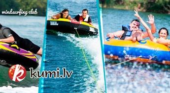 Adrenalīna pilns brauciens ar piepūšamo ūdens pūsli + fotosesija