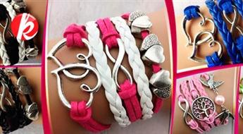 Stilīgas rokassprādzes ar simboliem dažādās krāsās. Piešķiriet savam tēlam īpašo rozīnīti -43%