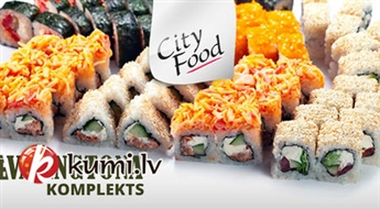 """CITY FOOD: garšīgākais suši komplekts """"VAŠINGTONA"""" (68 gab.)"""