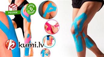 Kinezioloģiskais plaksteris-teips (5 m x 5.0 cm) muskuļu sāpju likvidēšanai