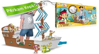 """Izkrāsojams un saliekams kartona pirātu kuģis """"Jake & the Neverland pirates"""""""