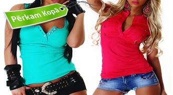 Koši un moderni sieviešu topi - dažādi modeļi, krāsas un izmēri