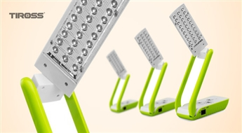 LED galda lampa - transformērs TIROSS TS-52 ar 50% atlaidi! Funkcionāla un kompakta!