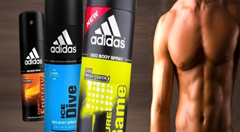 PIEGĀDE VISĀ LATVIJĀ! Adidas vīriešu dezodorants – sprejs (150 ml) ar 51% atlaidi! Patīkams, maigs aromāts!