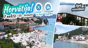 Burvīgā Horvātija! Lidojums + Viesnīca Plaža 3* + Transfērs! Pavadiet neaizmirstamas brīvdienas Adrijas jūras krastā!
