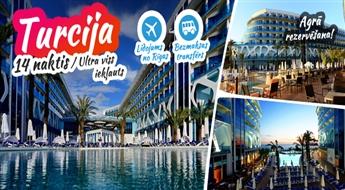 Viesmīlīgā Turcija! Lidojums + Vikingen Infinity Resort & Spa 5*  + Transfērs! Uzdāviniet sev neaizmirstamu atpūtu Vidusjūras krastā!