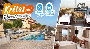 Neticamā Krēta! Lidojums + Viesnīca Blue Bay Resort & Spa 4* + Transfērs! Izbaudiet neaizmirstamu atpūtu labākajās Krētas pludmalēs!