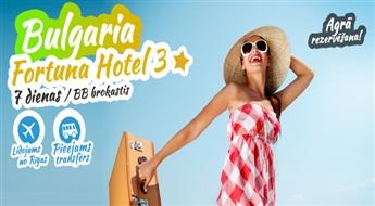 Neaizmirstama atpūta neticamā Bulgārija! Izmanto savu veiksmi un atpūties vienā no 3* viesnīcām! Lidojums + Viesnīcā 3* + Transfērs. Brokastis iekļautas!