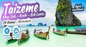Viseksotiskā valsts austrumos – Taizeme! Khao Sok – Krabi – Koh Lanta. 13 naktis. Ekskluzīva programma. Atvaļinājums – kuru Jūs nekad neaizmirsīsiet!