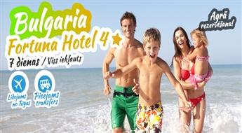 Neaizmirstama atpūta neticamā Bulgārija! Izmanto savu veiksmi un atpūties vienā no 4* viesnīcām! Lidojums + Viesnīcā 4* + Transfērs. Viss iekļauts !
