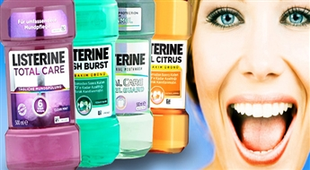 "Antibakteriālais mutes skalojamais šķidrums (250 ml) ""Listerine Fresh Burst"" , ""Total Care""  vai ""Cool Citrus""  tikai par 2.13 Eur!"