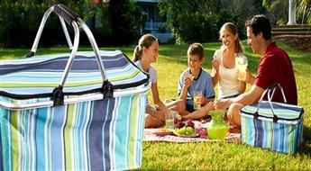 PIEGĀDE VISĀ LATVIJĀ! Termoizolējoši piknika grozi ar atlaidi! Laiks piknikam!