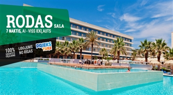 Rodas sala! Lidojums + Viesnīca Blue Sea Beach Resort 4* + Transfērs! Atklājiet nezināmo un saulainu Rodas salu!