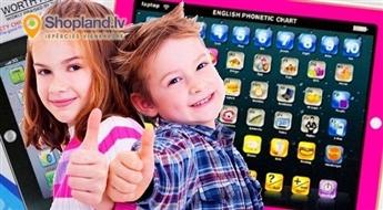Mazajiem gudriniekiem: izglītojošs spēļu planšetdators bērniem no 3 gadu vecuma