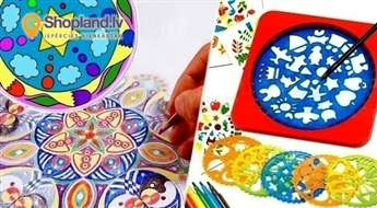 Mandalu zīmēšanas komplekts bērniem!