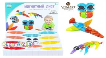 Bērna fantāzijas attīstīšanai! Komplekts ar 22 daudzkrāsainām magnētiskām lapiņām un 12 apaļām figūriņām
