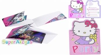 Komplekts no 6 ielūgumu atklātnītēm bērnu ballītei Monster High