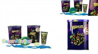 Dāvanu komplekts vannai Turtles un krājkase - sajūties kā supervaronis pat vannā!