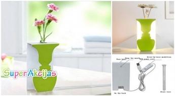 """Dekorātīva galda lampa ar mazo vāzi """"Sejas"""""""