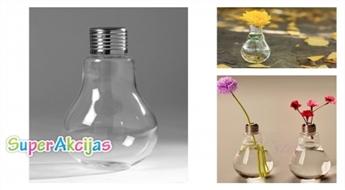 Dekoratīvā vāze lampas formā