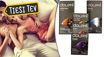 Prezervatīvi DOLPHI jebkurai gaumei. 33  prezervatīvu komplekts sajūtu dažādībai.