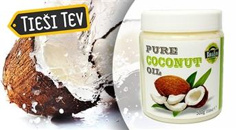 Auksti spiesta 100 % tīra kokosriekstu eļļa 500 g (550ml)