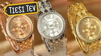 Grezni GENEVA sieviešu rokas pulksteņi zelta, sudraba vai rozā zelta krāsā