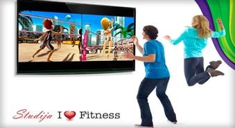"""Ienāc 3D izklaides pasaulē: teniss, dejas, grupu sacensības un daudz kas cits studijā """"I Love Fitness"""" ar atlaidi no 60% un pirts un baseina apmeklējums dāvanā"""