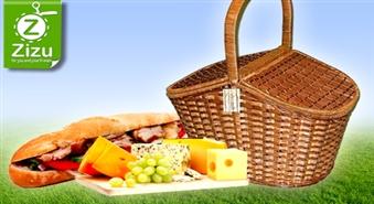 Pīts piknika grozs ar 50% atlaidi. Stilīga maltīte brīvā dabā!