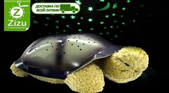 """Brīnumjauka naktslampiņa """"Bruņurupucis"""", kas projicē uz griestiem zvaigžņotas debesis, tikai par Ls 10,9. Piegāde VISĀ LATVIJĀ!"""