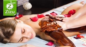Ķermeni veidojošs šokolādes SPA rituāls: ķermeņa aromapīlings, šokolādes ietīšana un masāža ar ēteriskajām eļļām – 54% atlaide!