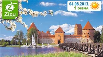 Augusta vienas dienas ceļojums uz Lietuvu tikai par Ls 12. Varenā Traķu pils un burvīgā Lietuvas galvaspilsēta Viļņa!