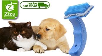 Ķemme ar pašattīrīšanās mehānismu mājdzīvnieku kopšanai tikai par Ls 3,7. Piegāde VISĀ LATVIJĀ!