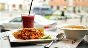 """Pikanta maltīte autentiskā taizemiešu restorānā """"Kotai"""" ar 49% atlaidi. Tom Kha dārzeņu zupa, Pad Thai nūdeles ar garnelēm un Smoothie kokteilis BerryTwist!"""