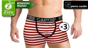 Oriģinālu jauna dizaina TRĪS Pierre Cardin vīriešu apakšbikšu komplekts (slipi vai bokseršorti), sākot no Ls 10,9. BEZMAKSAS PIEGĀDE no Post24!