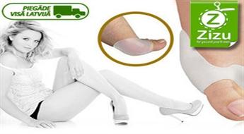 Ārstnieciskie silikona fiksatori (2 gab.) lielajiem kāju pirkstiem Hallux Valgus tikai par € 5,9. Piegāde VISĀ LATVIJĀ!