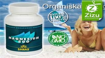 """Organiskais magnijs veselībai un sportam """"MAGNESIUM 500"""" kapsulās (60 porcijas) tikai par € 9,5. Piegāde VISĀ LATVIJĀ!"""