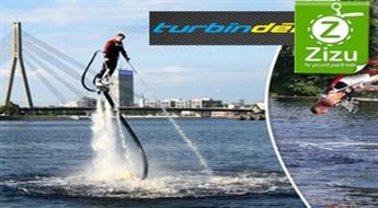 Adrenalīna pilns lidojums ar turbīndēli virs ūdens virsmas - 30% atlaide!