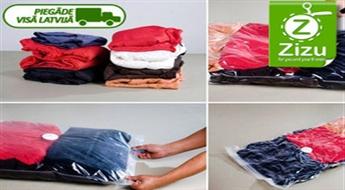IZPĀRDOŠANA – TAGAD VĒL PAR 30% LĒTĀK: divi atkārtoti lietojami vakuuma maisi kompaktai mantu uzglabāšanai, sākot no € 1,4. Piegāde VISĀ LATVIJĀ!