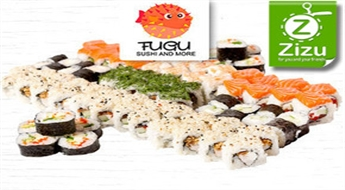 Suši bārs FUGU SUSHI: suši sets FUTUOKI (82 gab.) ar 47% atlaidi. NEMAKSĀ VISU UZREIZ!