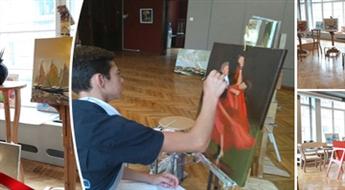 """Eļļas gleznošanas meistarklase mākslas studijā """"ART DAY"""""""