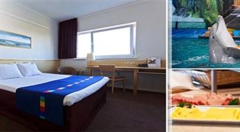 """KLAIPĒDA: Atpūta DIVIEM (1 nakts) viesnīcā """"Green Park Hotel Klaipeda"""" ar brokastīm, vakariņām un Delfinārija apmeklējumu tikai par € 76!"""