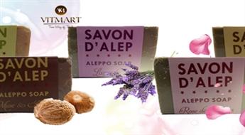 """Dabiskās ziepes """"Aleppo"""" ar olīveļļu sejas, ķermeņa, matu vai apģērba kopšanai tikai par € 3,4. PIEGĀDE visā LATVIJĀ!"""