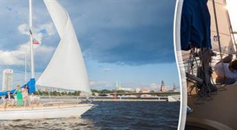 Brauciens ar jahtu pa Daugavu vai Rīgas līci (5 STUNDAS vai VISA DIENA) kompānijai līdz 7-8 cilvēkiem, sākot tikai no € 110. NEMAKSĀ VISU UZREIZ!