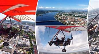 Aizraujošs lidojums virs Rīgas ar deltaplānu ar instruktoru + foto un video uzņemšana, sākot tikai no € 21!