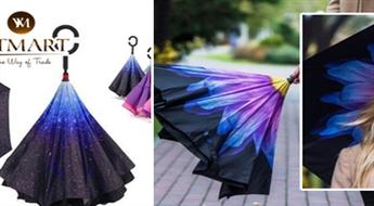 Mūsdienīgi lietussargi, kas atveras citā virzienā (7 spilgti dizaini), tikai par € 11,9!