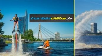 Adrenalīna pilns lidojums ar turbīndēli virs ūdens virsmas, sākot tikai no  € 28!